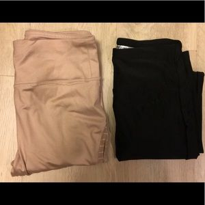 Forever 21 leggings XS and S taupe and black